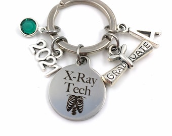 Graduation Gift for X-Ray Tech Keychain / 2021 XRay Grad Key Chain / Radiologic technologist Keyring / Xray Graduate Present / Her Him