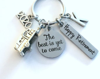 The best is yet to come Keychain, 2020 Retirement Gift for Traveller Key Chain, RV Camper Keyring, him her women Men Coworker Boss Co Worker