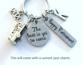 The best is yet to come Keychain / 2021 Happy Retirement Gift / Present for RV Owner Keyring / Traveler Key Chain / RV Camper Gift for Boss