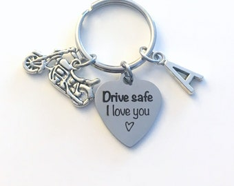 Birthday gift for him, Drive safe I love you Keychain, Present for Boyfriend Key Chain, Husband Teenage Boy Girl, Man Men Keyring son women