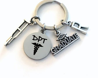 DPT Keychain / 2021 Doctor of Physical Therapy Key Chain / Graduation Gift for DPT Keyring / PT Therapist Student Grad Present