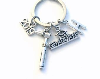 Otolaryngologist Graduation Gift, ENT Doctor Keychain, Otoscope Key Chain for 2017 2018 2019 2020 Grad Graduate Keyring Initial Ear Scope