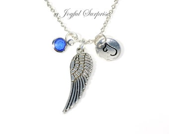 Memorial Necklace / Angel Wing Jewelry / Gift for Sympathy Present