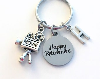 Retirement Gift for Videographer / Video Camera Keychain / 2021 or Other Year / Visual Arts Director Key chain / Film Camera Keyring / Actor