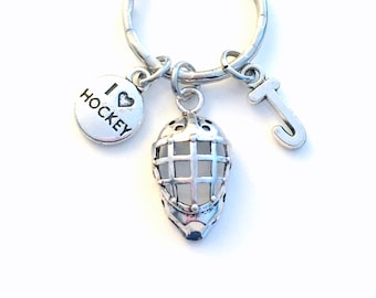 Hockey Goaltender Keychain, Gift for Goalie Son or Daughter Key Chain, Teammate Best Friend, Mask Girl Boy Teen Teenager Teenage Player