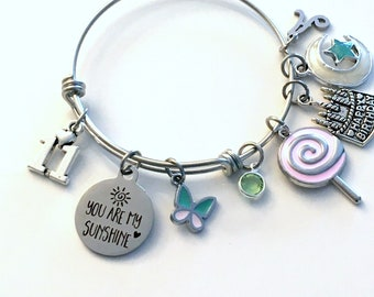 11th Birthday Gift for Girl Charm Bracelet / 60mm Turning 11 Present for Her / Daughter Jewelry / You are my Sunshine / Eleventh Eleven