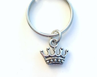 Crown Keychain, Tiara Key Chain Princess Keyring Fairytale Reign gift, Victorian Ruler Princess birthday Present purse charm planner her