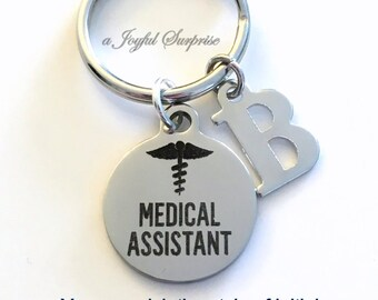 Medical Assistant KeyChain / MA Key chain / Gift for Medical Assistant Keyring / Present for Student Graduation Retirement / men women her
