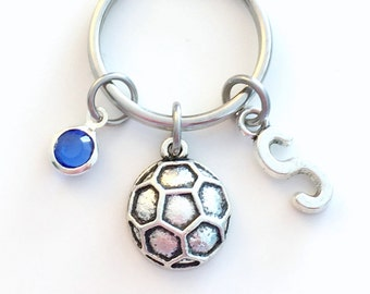 Soccer Keychain / Gift for Soccer Player Key Chain / Teenage Boy or Girl / Ball Keyring