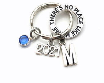 There's no place like home KeyChain 2021, Wicked Key Chain, Wizard of Oz, Gift for New Home Adoption House warming present her him daughter