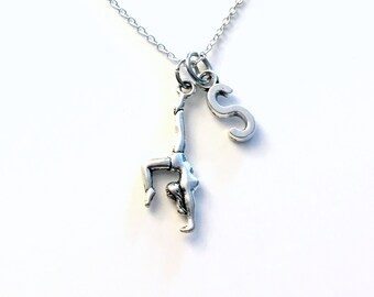Gymnastic Necklace, Gift for Gymnast Jewelry, Boy or Girl Silver handstand Silver Charm, Birthday Present for Teenager Teen Teenage Her