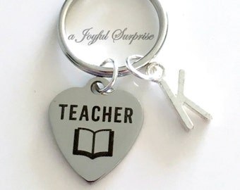 Teacher Keychain, Education Degree Key chain Gift for Teaching Student Grad Teach Graduation Present Male Man Men Keyring Graduate Thank you