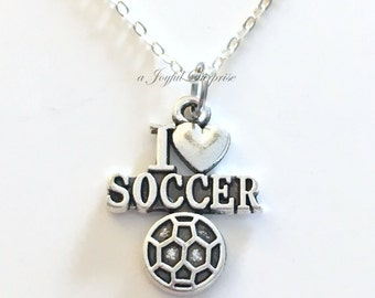 Soccer Necklace for Boy or Girl, Soccer Ball Cleat Shoe Jewelry Gift Athlete Teenager Teen Sport #1 Coach present I love Soccer Charm Man