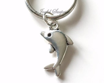 Dolphin Key Chain Dolphin Tale Keyring Whale Keychain Sea Animal Gift birthday present Christmas Gift Dolphin Mascot Purse Charm Planner