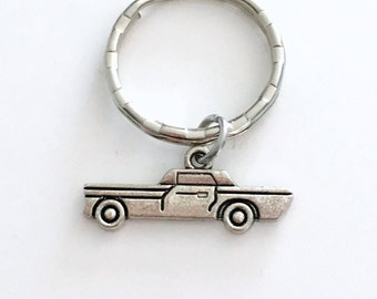 Classic Car KeyChain, Auto Keyring, Automobile Key chain, Gift for Birthday present Dad Grandfather Luggage Tag Gym Bag zipper pull men him