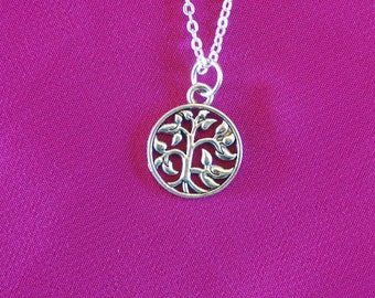 SALE Silver Tree Necklace, Tree Charm Necklace, Family Tree Necklace, Tree of Life Necklace, Tree Jewelry, Tree Gifts for mom, Nature 20