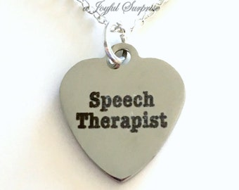 Speech Therapist Jewelry, Speech Language Pathologist Necklace, Gift for Speech Therapy Student Graduation Gift for Man men or woman women
