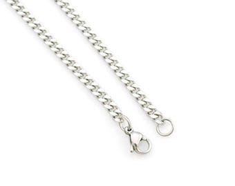 Men's Necklace, 316L Stainless Steel Separate or Upgrade Purchase, pick length 18, 20, 22 24 Inches Add on Jewelry Supply Curb Chain him man