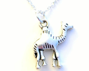 Camel Necklace, Gift for Nephew Grandson Son African Safari Jewelry Desert Animal Silver charm present Short Long Chain Sterling Girl Woman