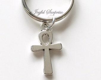 Ankh Key Chain Small Ankh Cross Keyring Ankh Keychain Symbol of life birthday present Christmas Gift  Ancient Egyptian religious pendant