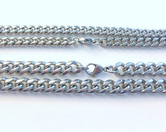 Thick Men's Necklace, 316L Stainless Steel 7mm or 9mm thick, pick length 18, 20, 22, 24, 28 Inches, Man Jewelry, Curb Chain him