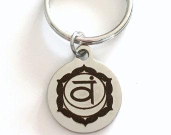 Svadhisthana Sacral Chakra Key Chain 2nd Second Kundalini Gift for Chinese Medicine Healer Present KeyChain keyring yoga passion pleasure