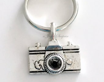 Camera Key chain, Photographer's KeyChain, Photo Keyring Gift for Male Men Photography Student Graduation female, purse charm planner charm