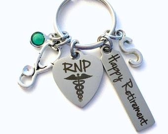 Retirement Gift for RNP Keychain, Men Women Nursing Keyring, Registered Nurse Practitioner Key Chain, Present him her charm medical RPN