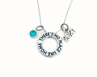 There's no place like home Necklace, 2021 Wizard of Oz Jewelry, Wicked Adoption Gotcha Musical Theater Gift birthstone New house birthday