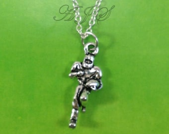 Gifts for Boyfriend Necklace, Rugby Jewelry, Football Player Present Silver Foot ball Mom men boy male man's team Women Her him chain teen