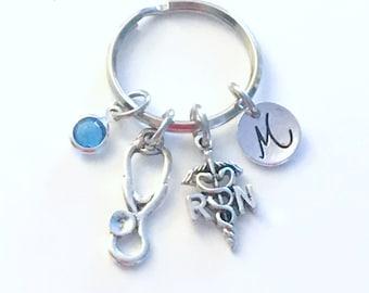RN Nurse's Keychain / Registered Nurse Key Chain / Gifts for Nurses RN
