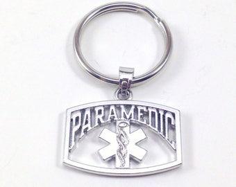 Paramedic Key Chain, EMT KeyChain, Ambulance KeyChain, Paramedic gifts, EMT Thank you Gift Medical Keyring Purse charm Luggage tag 96