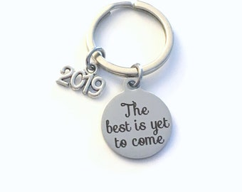 Retirement Keychain for Men or Women, Him or Her 2019 The best is yet to come Present Coworker Key chain Gift for Boss Keyring Mom Dad 2020