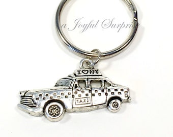 Taxi KeyChain, New York Taxi Key chain, NYC Taxi Keyring, New York Theme Wedding Favor, Party Gift, NYC Symbol Icon Taxi Driver Gift man men