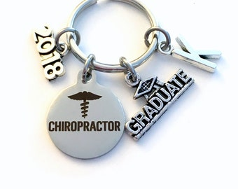 Graduation Gift for Chiropractor Keychain, 2018 DC Key Chain Spine Care Dr Doctor Student Grad KeyChain  Chiropractic Keyring Graduate 2019