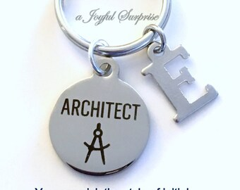 Architect Keychain, Gift for Architectural Technology Student Key Chain, Graduation or Retirement Present, Student Graduate Grad her him