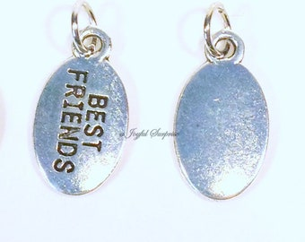 Add on a Best Friends Charm to any of my listings, BFF Charm,  Best Friend Charm,  Best Friends Gift Jewelry, Silver Charm, Pewter Pendant