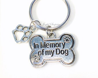 Memorial Dog Jewelry, Loss of Dog Gift, In memory of my dog, Sympathy Gift Keyring, Death of Pet Puppy Keychain, Dog Paw charm, Memory Cat