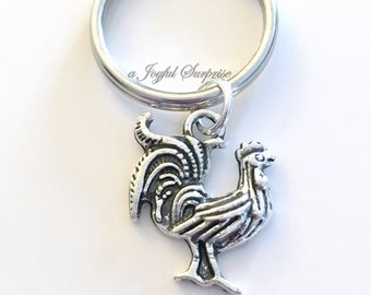 Rooster Key Chain Bird Keyring Animal Keychain Year of the Rooster Jewelry Chinese Year Zodiac Sign 2017 hen birthday present Christmas Gift