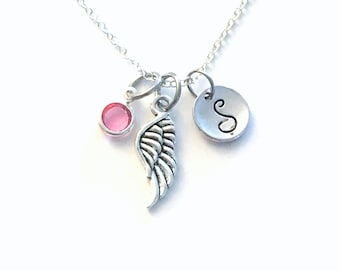 Small Angel Wing Necklace / Feather Jewelry / Gift for memorial