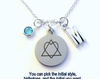 Adoption Necklace, Adoption Symbol Gifts, New Parent Gottcha Day Gotcha Adopted Child Jewelry Initial Birthstone birthday Christmas present