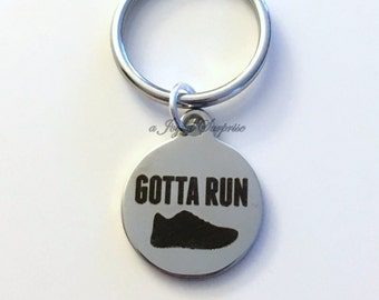 Gift for Runner Key Chain Gotta Run KeyChain Running Athlete Marathon Track Keyring birthday Christmas present purse charm Planner Dangle