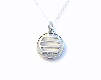 Volleyball Necklace for Boy or Girl, I love Volley Ball Mom Jewelry, Gift Athlete Teenager Teen Sport #1 Coach present Rocks Charm Man Men