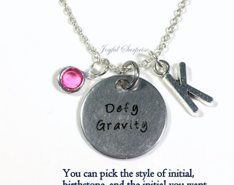 Wicked Necklace, Musical Jewelry, Gift for Best Friend Music Theatre Choreographer Charm Pendant Birthstone Initial Teenage girl OZ Acrobat