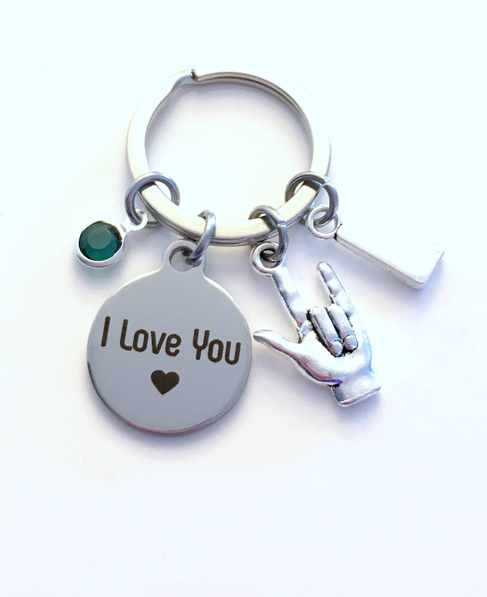 I Love You Keychain Gift For Daughter Sign Language Key Chain Hand