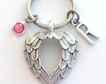Double Wing KeyChain, Feather Wings Keyring, Protection Gift for New Driver Present Feather Key chain Memorial Jewelry Sympathy Michelangelo