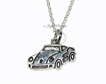 Necklace for Son, Teenage Guy Teen Teenager, Sports Vehicle Jewelry, Race Car Silver Automobile Gift for Man Men Male Son Grandson Boy him
