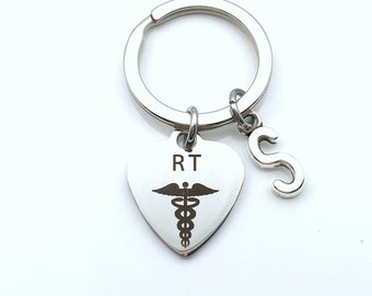 Respiratory Therapist Keychain, Graduation Gift for RT Therapy Student, Grad Graduate Key Chain, RT Keyring Present for Retirement him her
