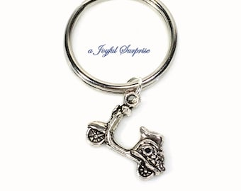 Scooter Keychain, Vespa Jewelry, Motorized Scooter Key chain Motorcycle Keyring, Gift Birthday Present Purse Charm Planner Charm teen girl