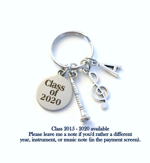 Graduation Music 2020.Music Graduation Present Musician Grad Keychain Gift For Band Student 2019 2020 2018 2017 Key Chain Graduate Keyring Initial Him Her